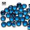Wholesale Factory round cut blue glass stone