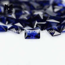 Sapphire blue baguette cut synthetic Nano gemstone wuzhou stone