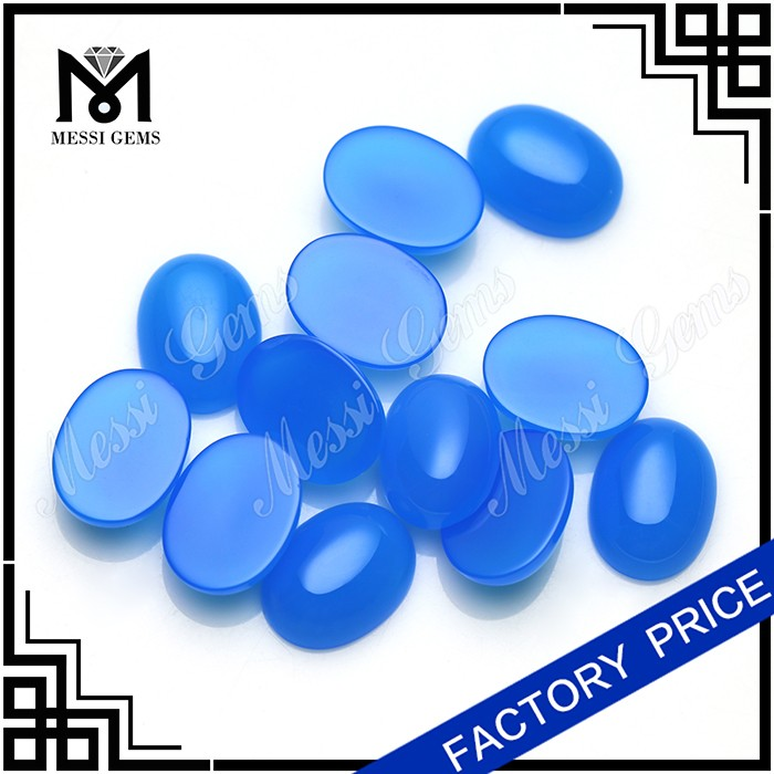 Blue cabochon alibaba agate beads