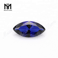 2.5*5mm marquise machine cut 34# blue sapphire synthetic corundum stone