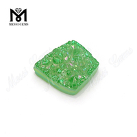 High Quality Natural Druzy Gemstones Green Color Druzy Stone for Jewelry Making