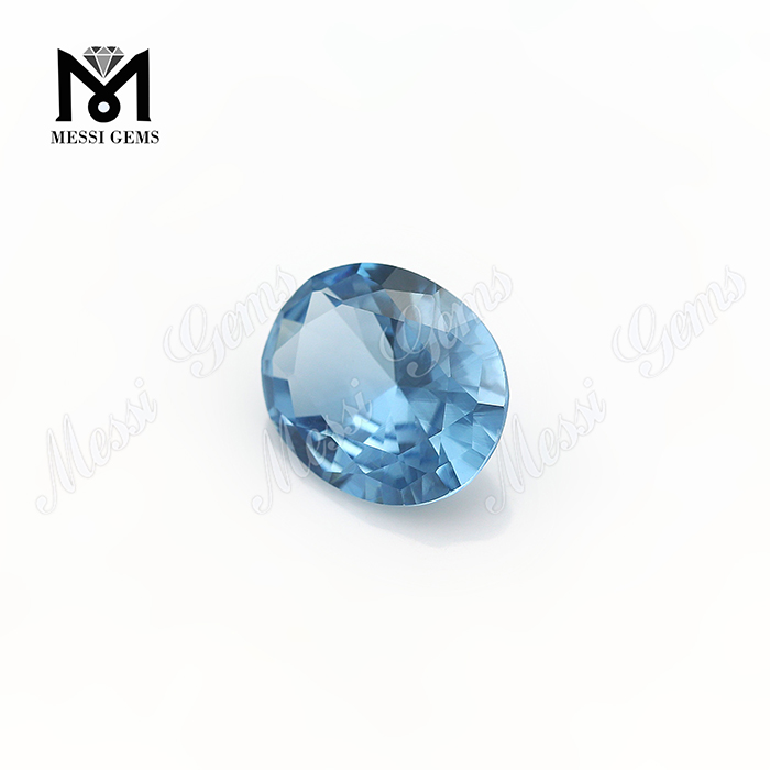Synthetic 10x12mm oval cut 106# blue spinel stone synthetic spinel gemstones price