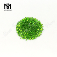 1.5mm diamond cut natural gemstones chrome diopside stones