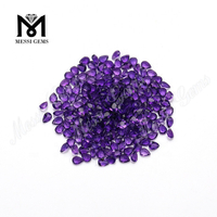 Natural Stone Pear Shape 3*4mm Amethyst Stone