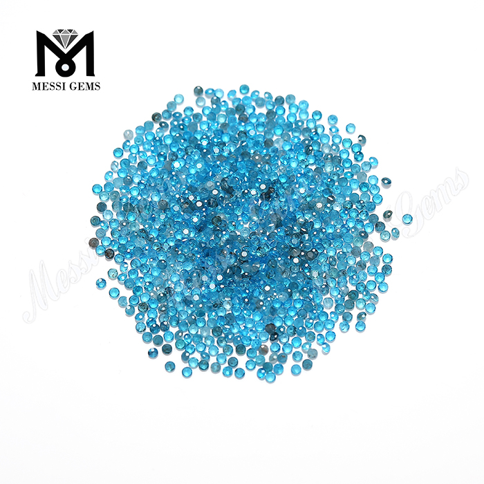 Wholesale gemstone price 1.5mm round shape natural apatite