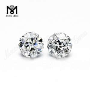 Synthetic moissanite diamond Stone Round Faceted Cut