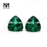 Trillion cut 10 x 10 mm green nano gemstone