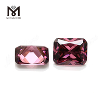 Wholesale machine cut 8x10mm octagon rhodolite loose colored cz stone
