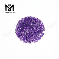 3x3mm heart cut loose natural amethyst stones price from China