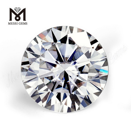 High Quality Loose gemstone price per carat 8mm DEF white round moissanite