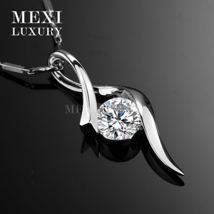 18k gold pendant 6.5mm 1ct fashion elegant moissanite diamond pendant