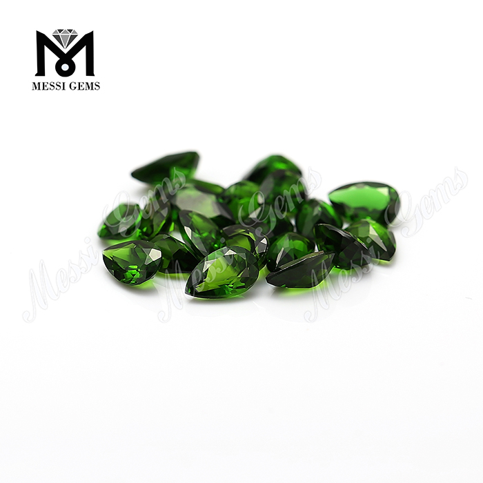 Hot Sale Pear Cut Loose High Quality Loose Gemstone Natural Chrome Diopside