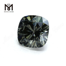 Loose Factory Price Cushion 10*10mm Synthetic Grey Moissanite Stones