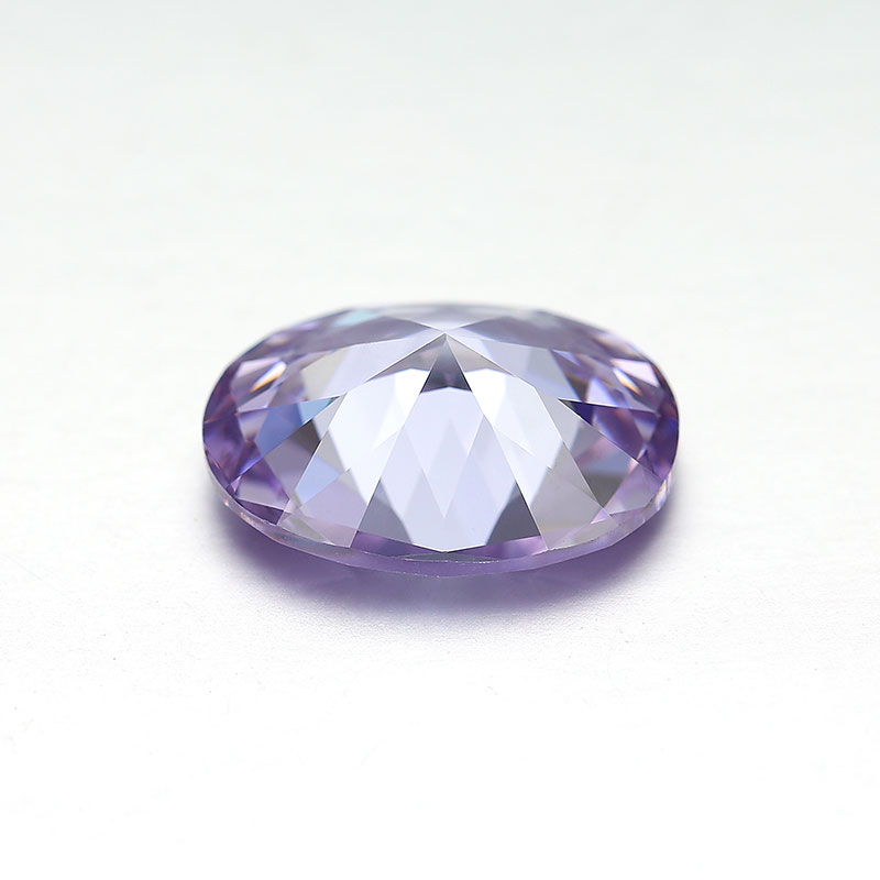 large loose faceted oval cut lavender color cubic zirconia cz stones