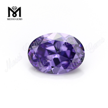 Wholesale High Quality Synthetic Zircon Oval Lavender CZ Stone