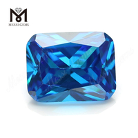 Synthetic Cubic Zirconia Wholesale Price Octagon Cut Aqua CZ Stone