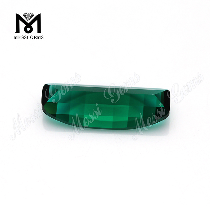 nano crystal emerald color glass stone for jewelry