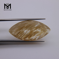 Marquise Faceted Fake Natural Rutilated Quartz Stones Loose Good Quality Price