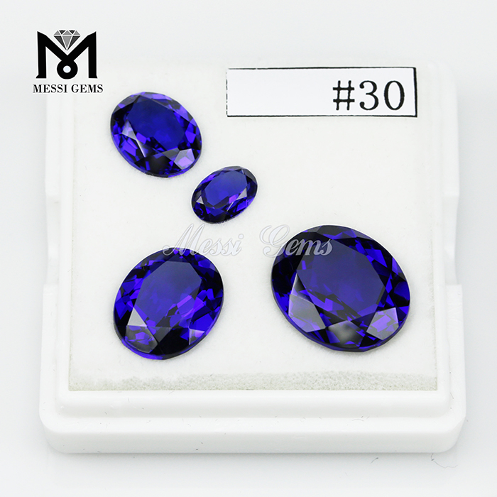 Synthetic oval cut 10x12mm nano sital stone blue nanosital gemstone