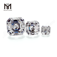 Color play or fire Loose gemstone VVS White Asscher cut moissanite diamond