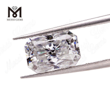 Wuzhou wholesale 9x11mm octagon radiant cut white colored moissanite diamond loose