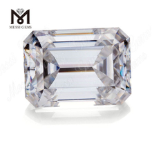 emerald cut moissanite diamond 1 carat China synthetic moissanite factory price