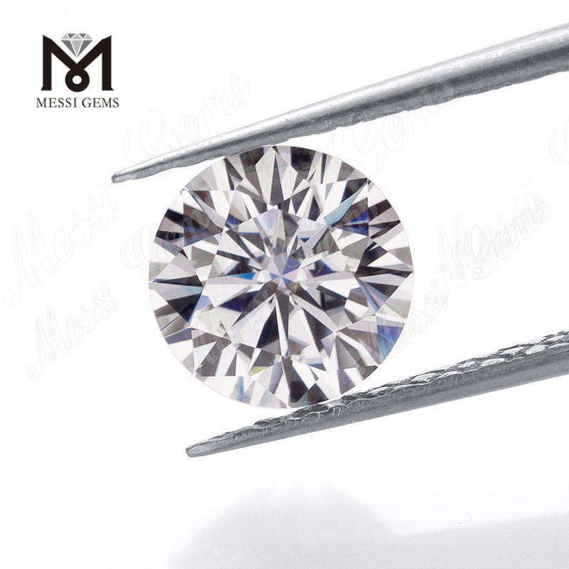 Loose wholesale price round brilliant 8mm VVS white moissanite diamond