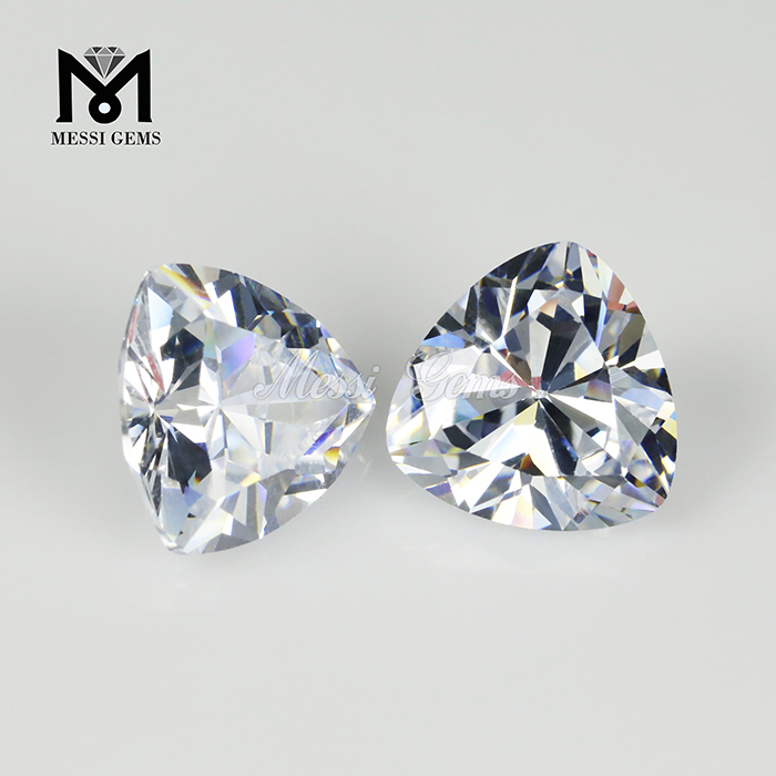 10 x 10mm trillion cut white cubic zirconia