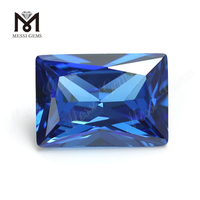 High Quality baguette Shape 10 x 12 mm Blue topaz CZ Cubic Zirconia Stone Price