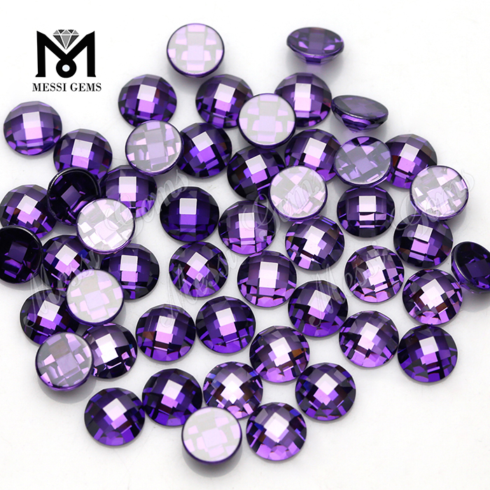 Synthetic Amethyst Round briol 9mm Loose Cubic Zirconia Gemstone