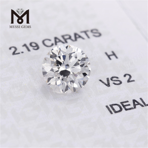 2.19carat synthetic lab grown diamond H VS2 IGI certificate IDEAL cvd white hpht diamond