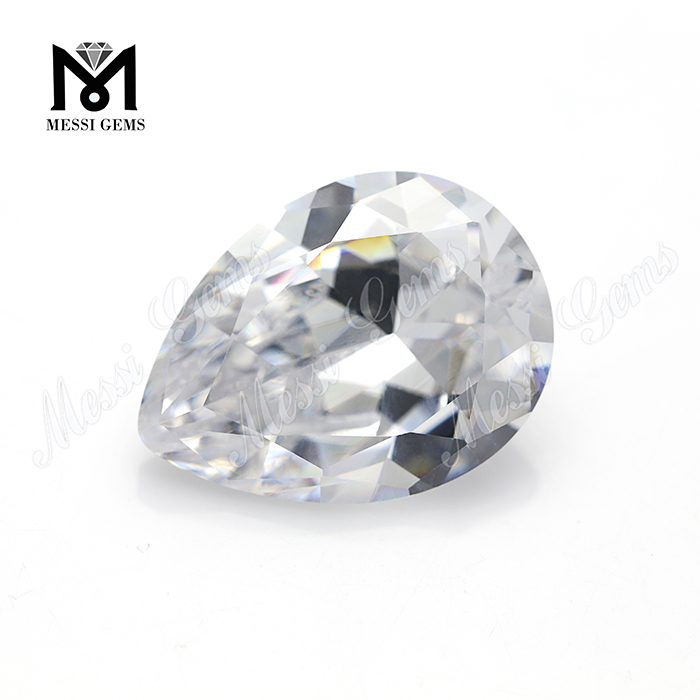 white color 15x20mm pear cut lab created zircon