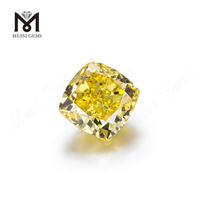 Fancy Vivid Yellow Cushion cut HPHT 2..02ct Lab grown diamonds