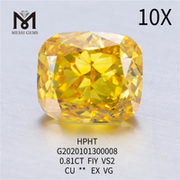 0.81ct FiY lab grown diamond Cushion cut VS2