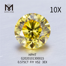 0.575ct FIY VS2 3EX Round lab grown diamond