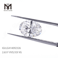 2.63ct VVS2 F EX lab grown diamond OVAL cvd diamond price