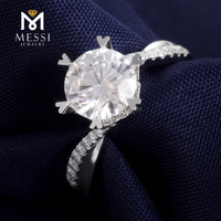 1.5ct moissanite ring wedding ring fashion Moissanite white gold rings for women