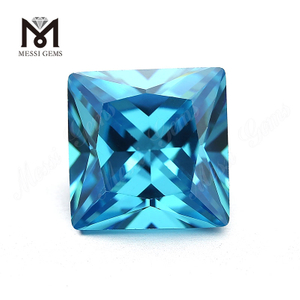 Factory best russian industrial loose Aquamarine Square cubic zirconia 10MM