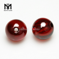 Wholesale Machine Cut Garnet 7mm round Cubic Zirconia Stone