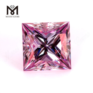 Wholesale price pink VVS 1 carat 5.5x5.5mm Moissanite Princess cut loose stone