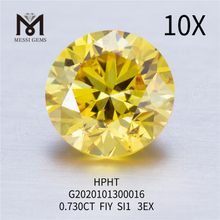 0.730ct FIY SI1 3EX RD loose lab grown diamond