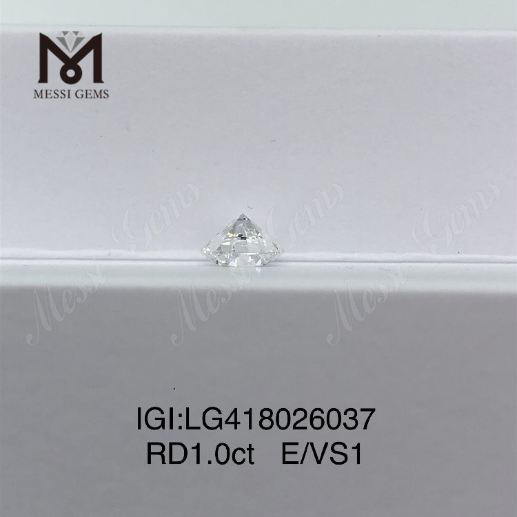 1 carat E/VS1 EX VG lab grown diamond Round