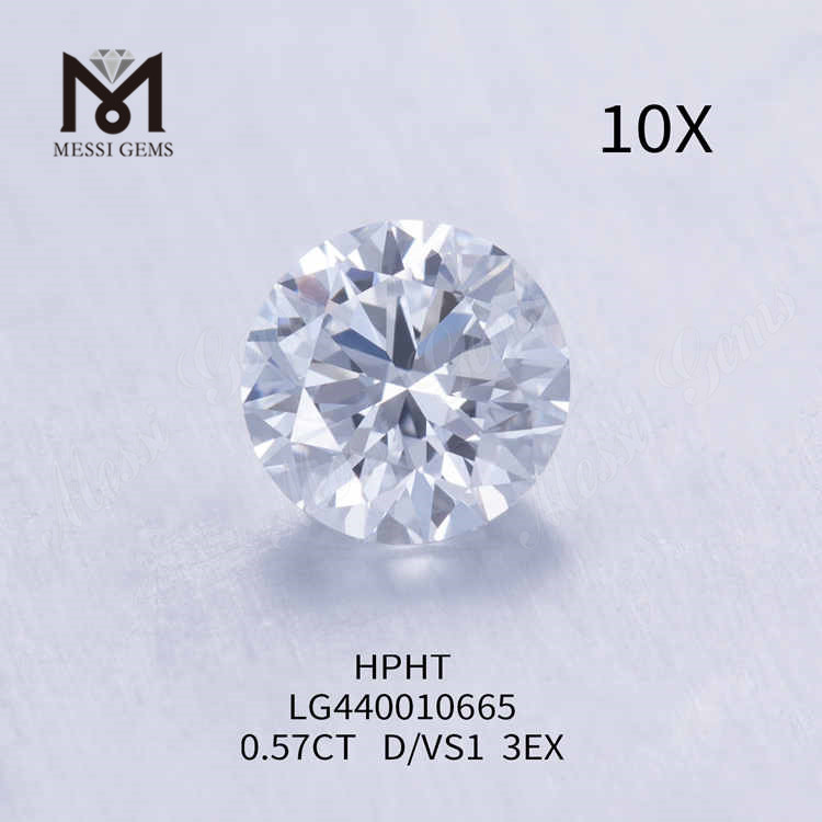 0.57CT D/VS1 round lab grown diamond 3EX