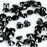 Wholesale price heart cut 5 x 5mm black cubic zirconia stones