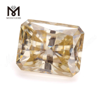 factory loose emerald cut fancy yellow moissanite stone price