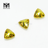 Manufacturer trillion Cut Yellow Cubic Zirconia Synthetic Stones Square