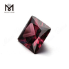 Rhodolite cubic zirconia high quality factory price square shape CZ stones