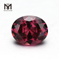 Wholesale Loose oval Shape 8 x 10mm CZ rhodolite Cubic Zirconia Stone