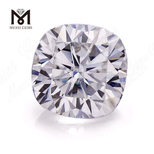 Synthetic diamond color play or fire Cushion cut Moissanite
