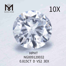 0.815carat D/VS2 round loose lab made diamond 3EX